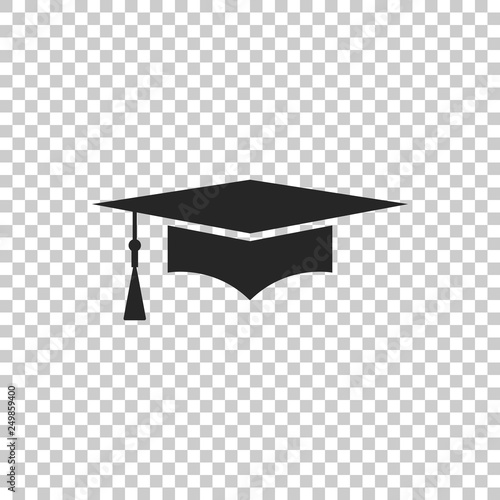 Carta da parati  Graduation cap icon isolated on transparent background