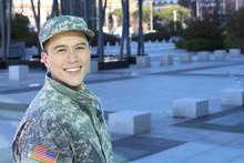 Ethnic US Military Man Smiling