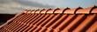 Leinwanddruck Bild Rote Dachziegel Haus Bedachung