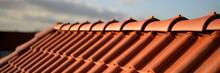 Rote Dachziegel Haus Bedachung