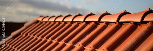 Fototapeta Rote Dachziegel Haus Bedachung obraz