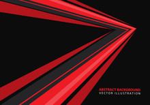 Abstract Red Speed Arrow Direc...