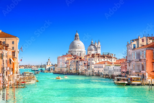 Photo Stands Venice Basilica Santa Maria della Salute in Venice