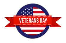 Veterans Day Sign Seal Icon Il...