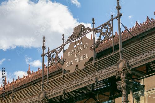 Fototapeta premium Drzwi Mercado de San Miguel (targ San Miguel) Madryt, Hiszpania