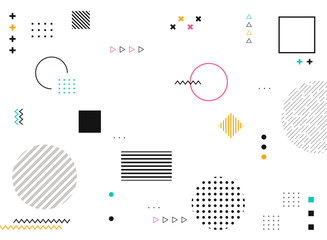 Abstract geometric shapes of colorful modern pattern background.