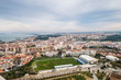 Lisbon city seen from above on a sunny day, Portugal, Europe