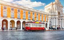 Lisbon, Portugal. Red Touristi...