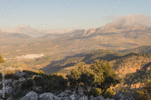 Foto auf Gartenposter Hugel Sierra de las Nieves natural park