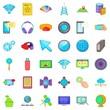 Web progress icons set. Cartoon style of 36 web progress vector icons for web isolated on white background