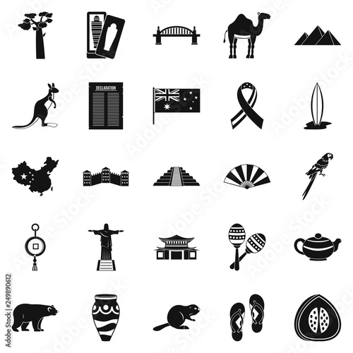 Foto  Attraction icons set