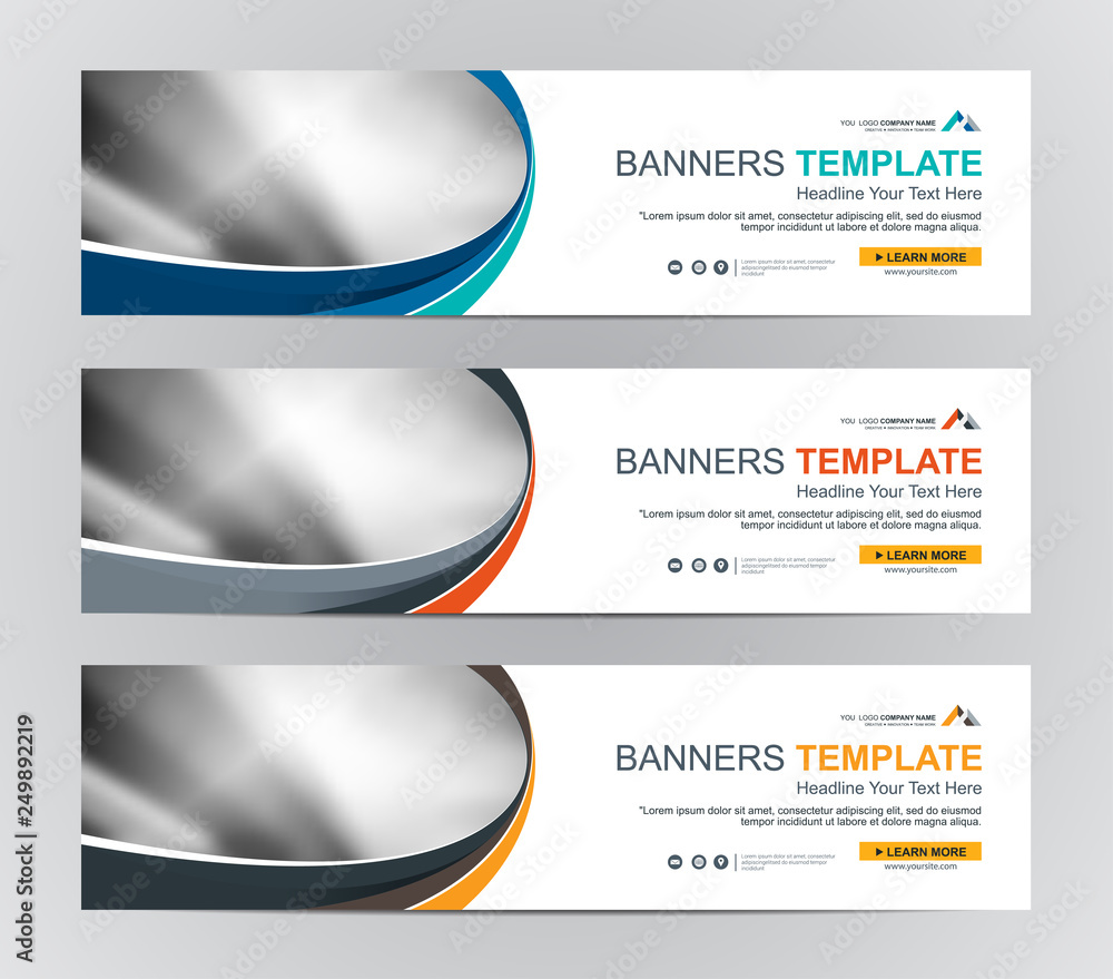 Fototapeta Abstract Web banner design background or header Templates