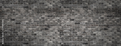 Spoed Fotobehang Baksteen muur gray texture with brick wall for background website or brickwork for design