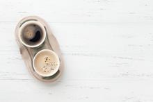 Two Take Away Coffee Cups