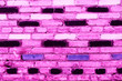 Leinwanddruck Bild - Texture, brick, wall, it can be used as a background . Brick texture with scratches and cracks