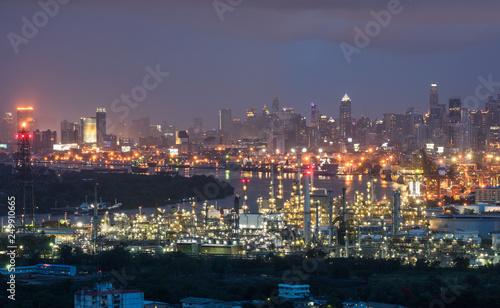 Poster Los Angeles Refinery backdrop Bangkok city