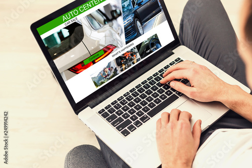Car Rental Salesman Automobile Vehicles Concept - 249914242