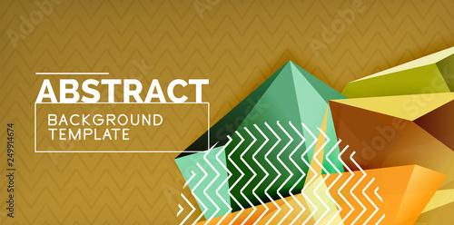 Staande foto Wanddecoratie met eigen foto Triangular low poly background design