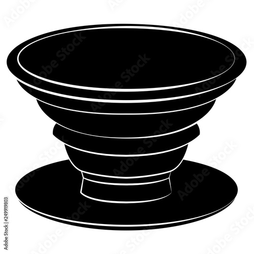Fotografie, Obraz  Plastic Phone Cellphone Pop Socket Vector Illustration Icon Symbol Graphic