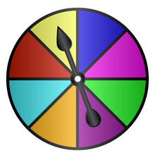 Board Game Color Spinner Vector Illustration Icon Symbol Graphic