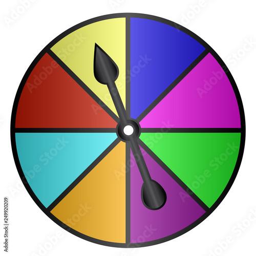 Fototapeta Board Game Color Spinner Vector Illustration Icon Symbol Graphic