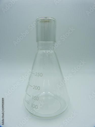 Glass labware, graduate Beute 250 ml, white background Canvas Print