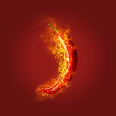 Płonąca papryka chili
