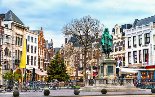 Statue of Johan de Witt in the Hague, the Netherlands Wallpaper Mural