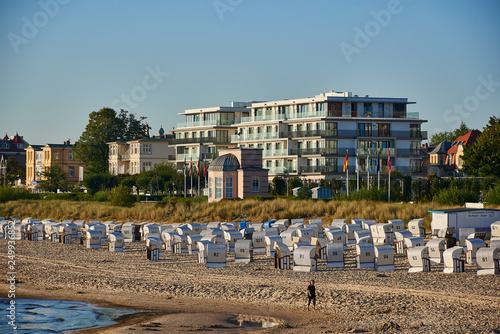 Obraz impression of baltic town Seebad Bansin on Usedom - fototapety do salonu