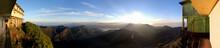 Adam's Peak In The Mountains Of Sri Lanka At Back Light
