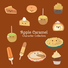 Cute Character Set Of Food