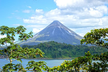 Arenal Volcano Near The Lake A...