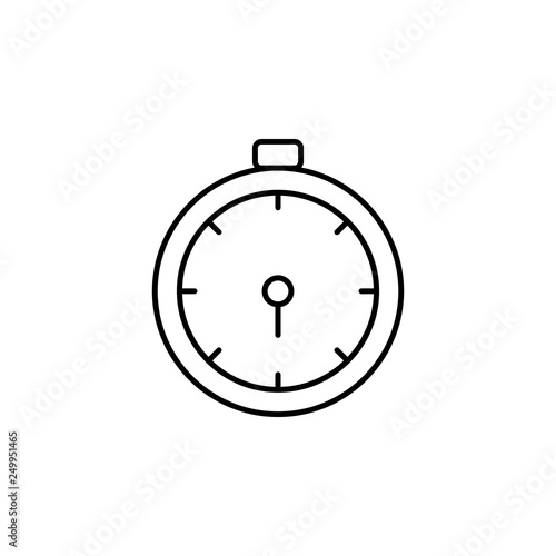 timing, alarm clock icon  Element of marketing for mobile concept
