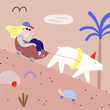 Funny Cruising Girl With A Polar Bear
