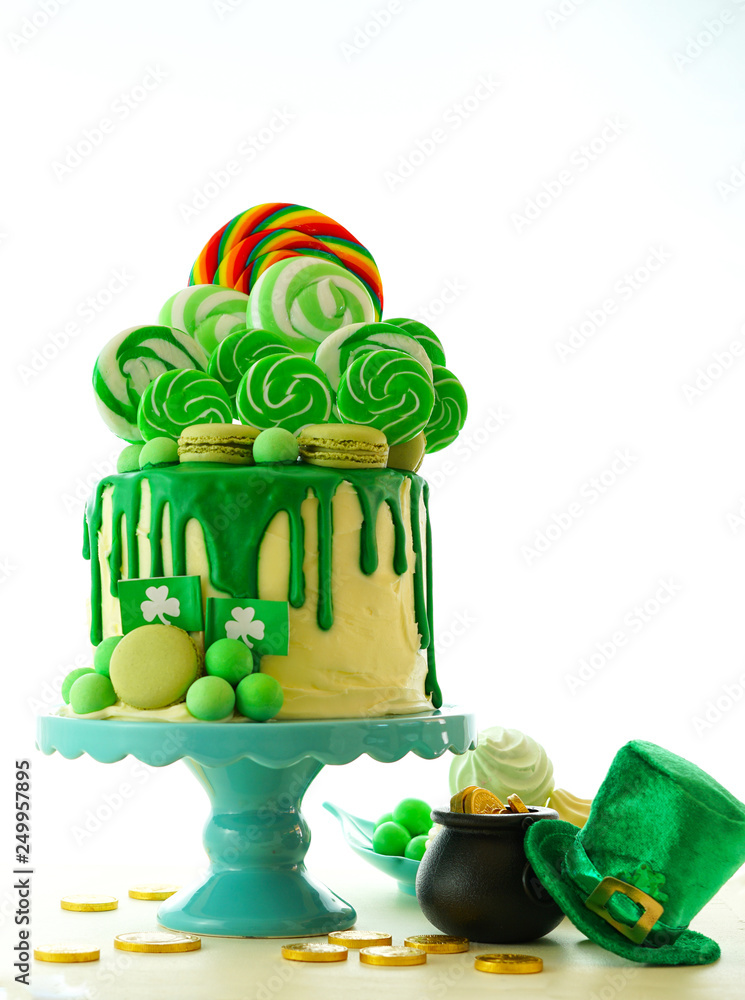 Photo & Art Print St Patrick's Day party table with lollipop