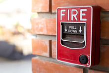 Fire Alarm Signal On Brick Wall