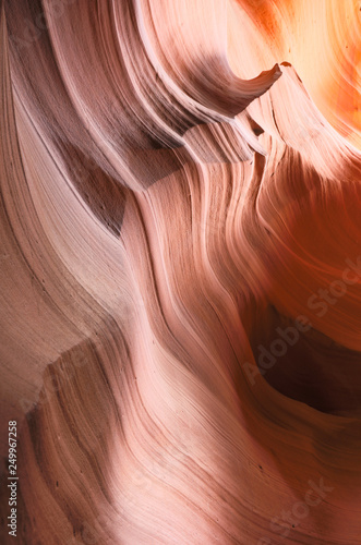 Vászonkép Details of striated eroded slot canyon in Arizona