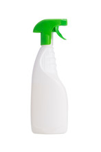 Bottle With Dispenser, For Cleaning, On White Background