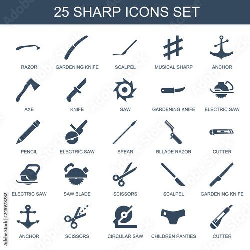 Fotografie, Obraz  sharp icons