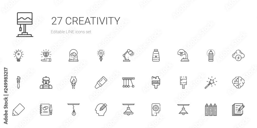 Fototapety, obrazy: creativity icons set