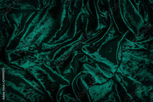 Green velvet fabric Canvas Print