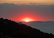 Romantic sunset in the Gulf of Naples. Sorrento. Italy