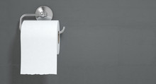 Toilet Roll On Chrome Hanger