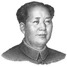 Portrait Of Mao Zedong Isolate...