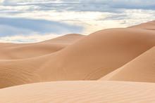 The Undulating Imperial Sand Dunes In California