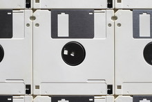 Vintage White Floppy Disks