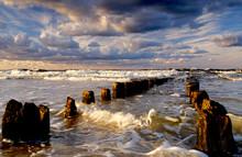 Sztorm Na Wybrzeżu Morza Bałtyckiego