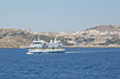 The ferry vessel from Malta to Gozo island arriving to the port of Mgarr
