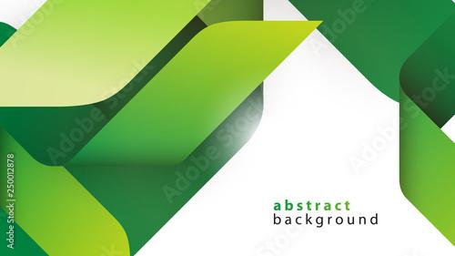 Obraz zielone wstęgi tło wektor - fototapety do salonu