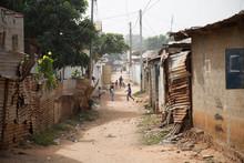 Poor Negro Village In Africa